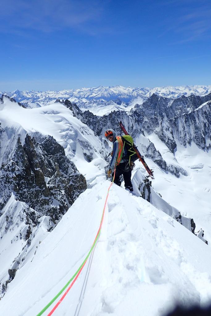 Votre guide à Chamonix, sur un combo alpinisme et ski