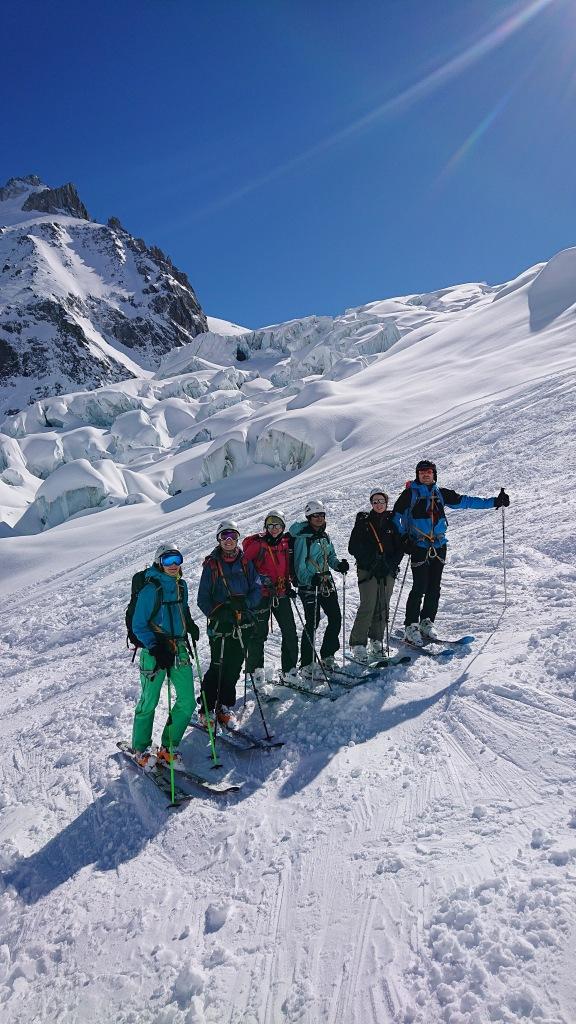 Passage des seracs sur la Vallee Blanche