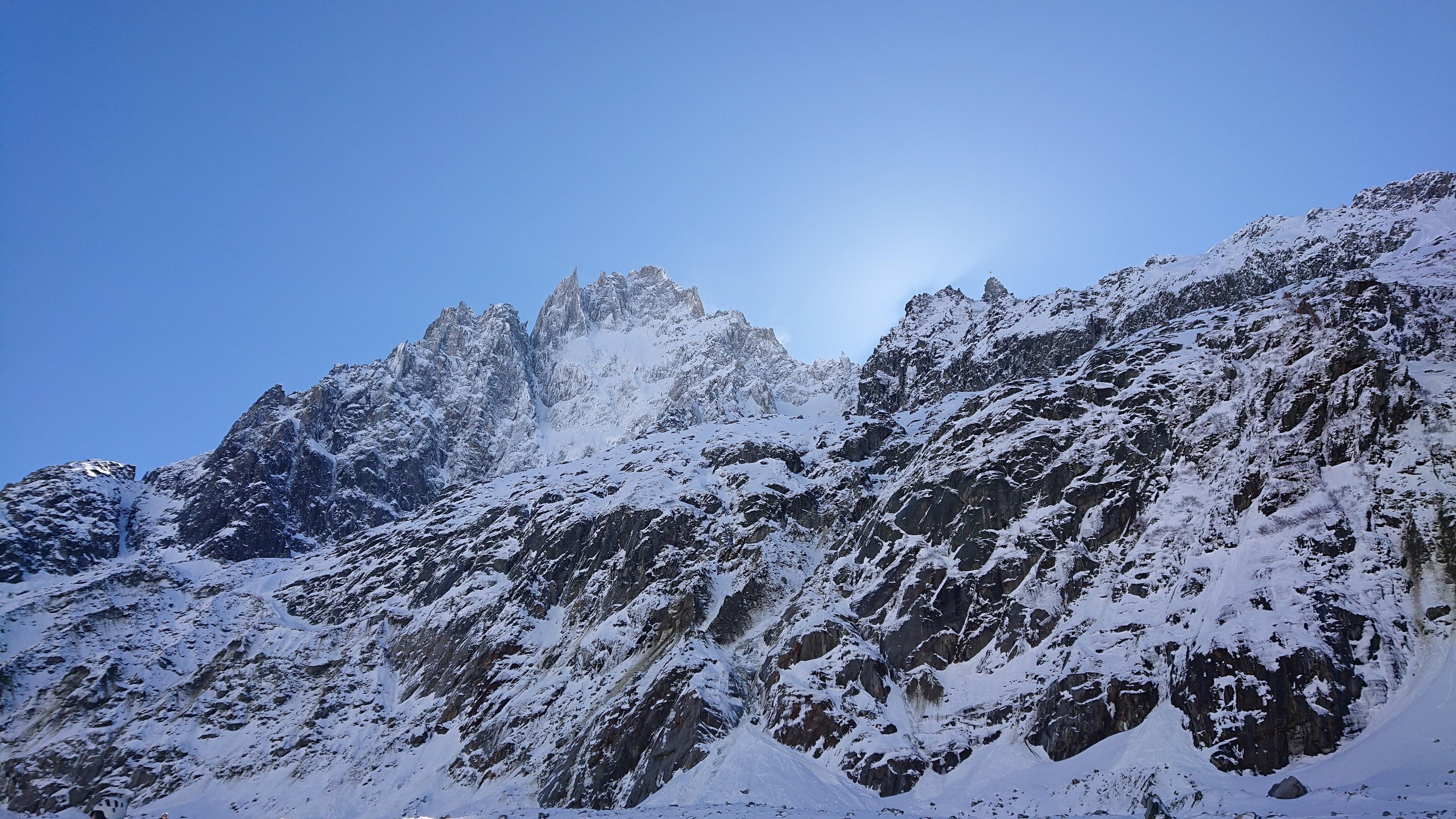 Une des montagnes que l'on voit depuis la vallée Blanche, vers la fin
