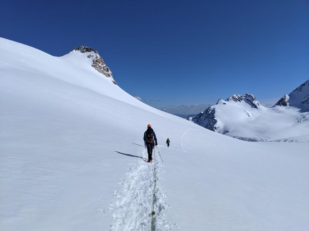 Progression encordé sur glacier